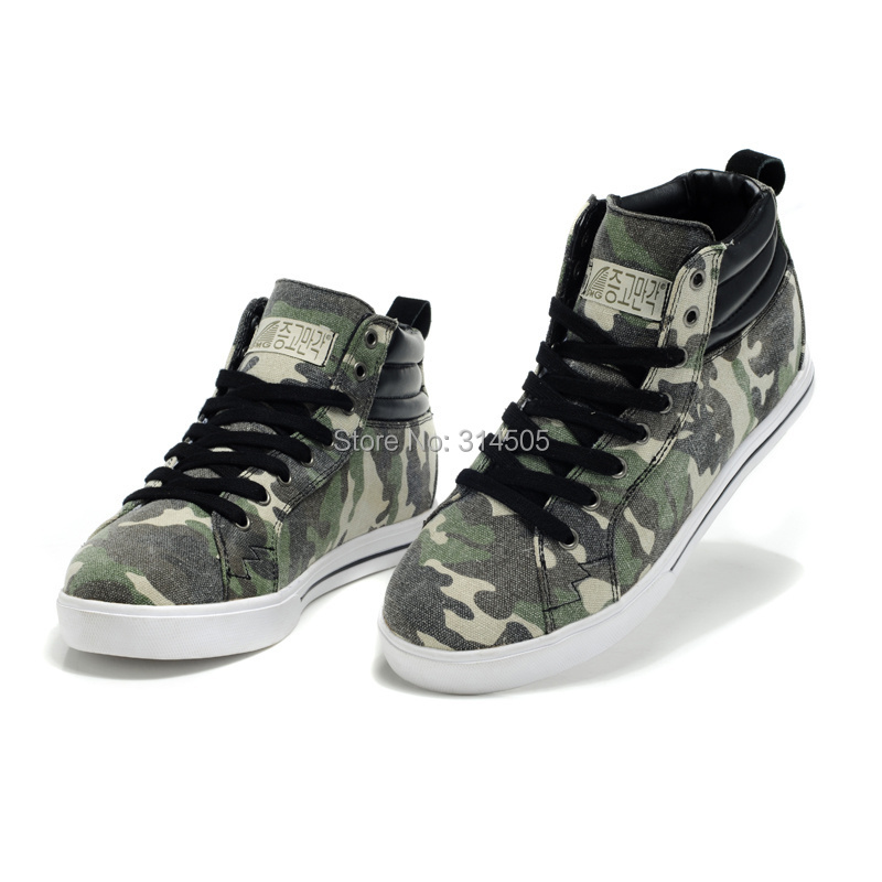 ZG0051 2015 Newest Spring/Autumn Casual Canvas Boots, Ankle Boots with Hidden Heels Grown Man Taller Blue/Green Camouflage<br><br>Aliexpress
