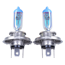 1pcs Car Halogen Lamp H4(P43t) 12V 55/60W 4300k For Universal Replacement Rainbow Gold Color Headlight Foglight(China)