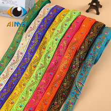 Manufacturers selling 2 cm PND tail-on national wind costume embroidery lace ribbon minority clothing accessories