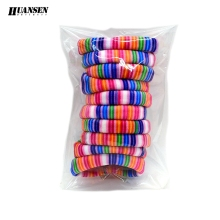 Wholesale 50 Pieces Striped Print hair accessories for girls the best women headwear Gum ties Elastic hair bands scrunchy