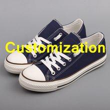 Trendy Men Casual Canvas Shoes Customized 색 Lace-업 레저 츠 커플 Tnies 플랫폼 슈 단점이라하면 평 Espadrilles(China)
