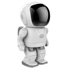 New-Designed cute Robot style PTZ control HD 960P home security ip network baby surveillance intelligent security Robot camera(China)