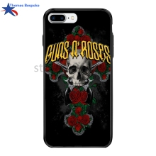 Guns N Roses For Iphone 8Plus PC&TPU Plating Button Covers For Iphone X/7/6s Plus Ultra-thin Glaze For Iphone 8 4.7/5.5 Inch(China)