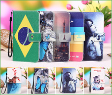 New Fashion Style 100% Special Cartoon Painting Case PU Leather Flip cover Case For Nomi i506 Shine, Lanyard Gift +Tracking