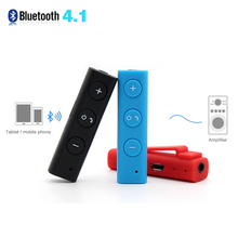 2017 Handfree Car Bluetooth Music Receiver Universal 3.5mm Streaming A2DP Wireless Auto AUX Audio Adapter With Mic For Phone MP3(China)