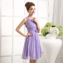 PTH-208#2016 new short bridesmaid dresses Prom Dress Gown Bride Wedding girl Dress toast dresses wholesale clothing purple pink