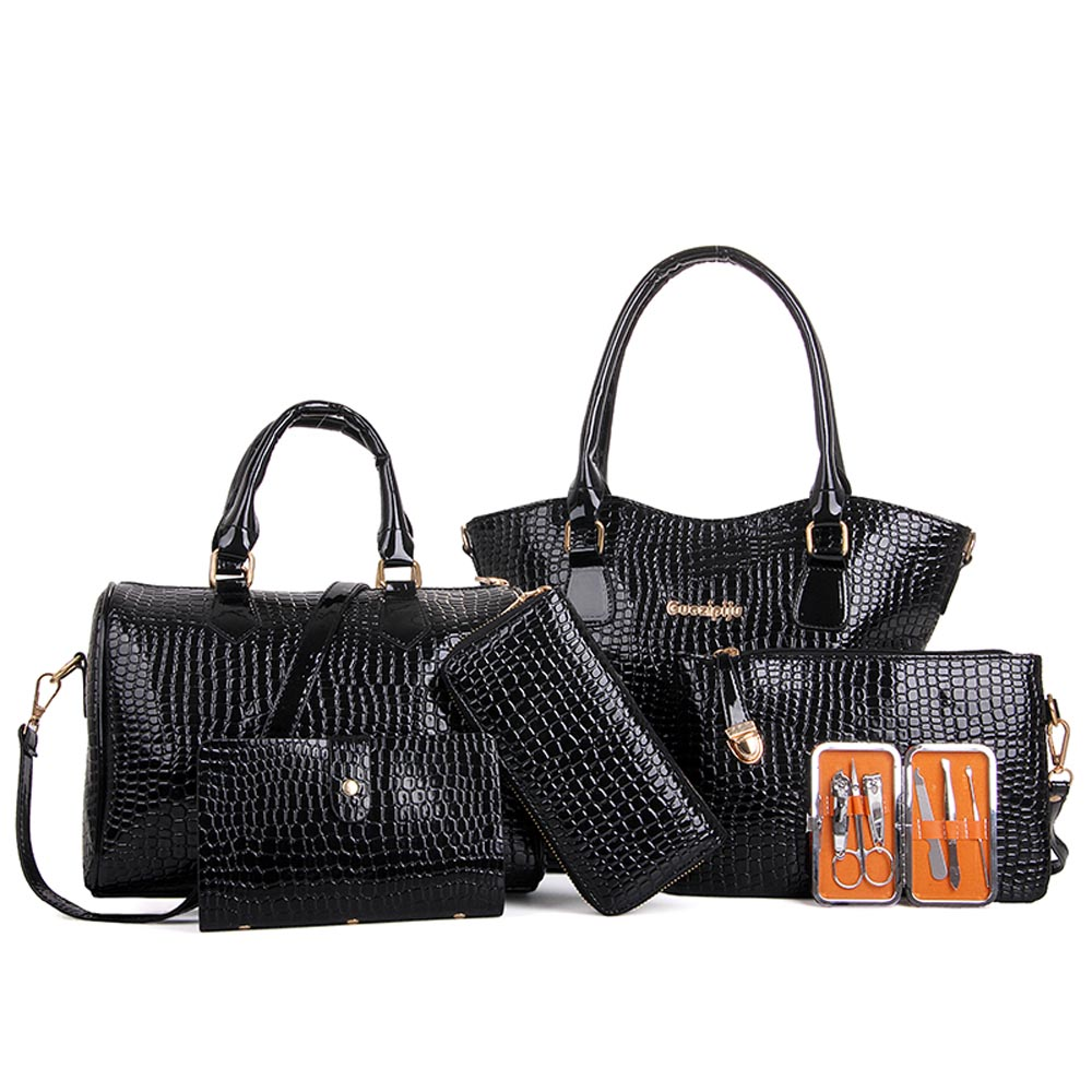 Six Set Bags Handbags Women Famous Brands Shoulder Bags Six Pieces PU Leather Tote Bag Crossbody Purses bolsos femenina<br><br>Aliexpress