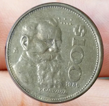 26mm Mexico 100 Peso Coin South America(China)