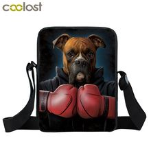 Dog Boxer / German Shepherd Mini Messenger Bag Women Handbag Children School Bags Bulldog Kid Book Bag Bulldog Animal Gift Bags