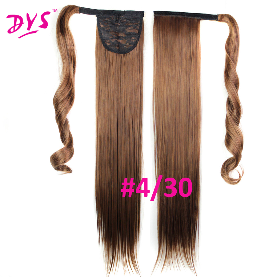 Deyngs 60cm Long Straight Clip In Hair Tail False Hair Ponytail Hairpiece With Hairpins Synthetic Hair Pony Tail Hair Extensions (12)