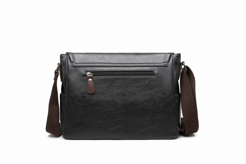 MJ Men\`s Bags Vintage PU Leather Male Messenger Bag High Quality Leather Crossbody Flap Bag Versatile Shoulder Handbag for Men (8)