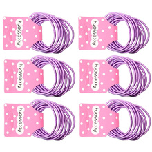 JEYL New 50pcs Baby Girl Kids Tiny Hair Accessary Hair Bands Elastic Ties Purple(China)