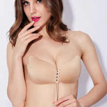Sexy Formal Dress One Piece Seamless women silicone Bra Cup Invisible A Blade Strapless Ladies Push Up bras Underwear women