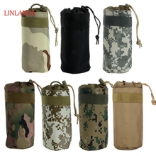 LINLANY 7 Color Camouflage High Quality Tactical Military System Water Bottle Bag Kettle Pouch Holder Bag Outdoor New Kettle Bag