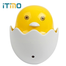 iTimo Light Control Sensor US EU Plug AC 110-220V Home Decoration Bedroom Lamp LED Night Light Yellow Duck