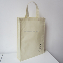 500pcs/lot 38*32*8cm 80gram non woven bag customer size available,promotional gift bags pp non woven shopping bag