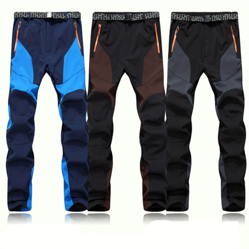 2017 hot Outdoor Men waterproof Pants softshell ski Pants Keep Warm Wind Proof Trousers Climbing and hiking Trousers In Winter<br><br>Aliexpress