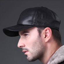 Aorice Men's  100% Genuine Leather Baseball Cap Golf Hats Brand White Black Hoge Kwaliteit Thin Air  Prevented Bask  HL013