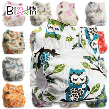 Baby Washable Reusable Real Cloth Pocket Nappy Diaper Cover Wrap, suits Birth to Potty One Size Nappy Diaper Cover Wrap Inserts(China)