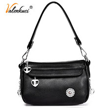 Valenkuci Brand Bags Women Messenger Bags For Women Leather Handbags high quality Women Retro Tote Bags Crossbody Bags SD-806