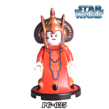 1PC Queen Amidala Padme Star Wars Clone War diy figures Super Heroes Building Block Action Figure Collection Kids DIY Toys Xmas - Five-Stars Blocks Store store
