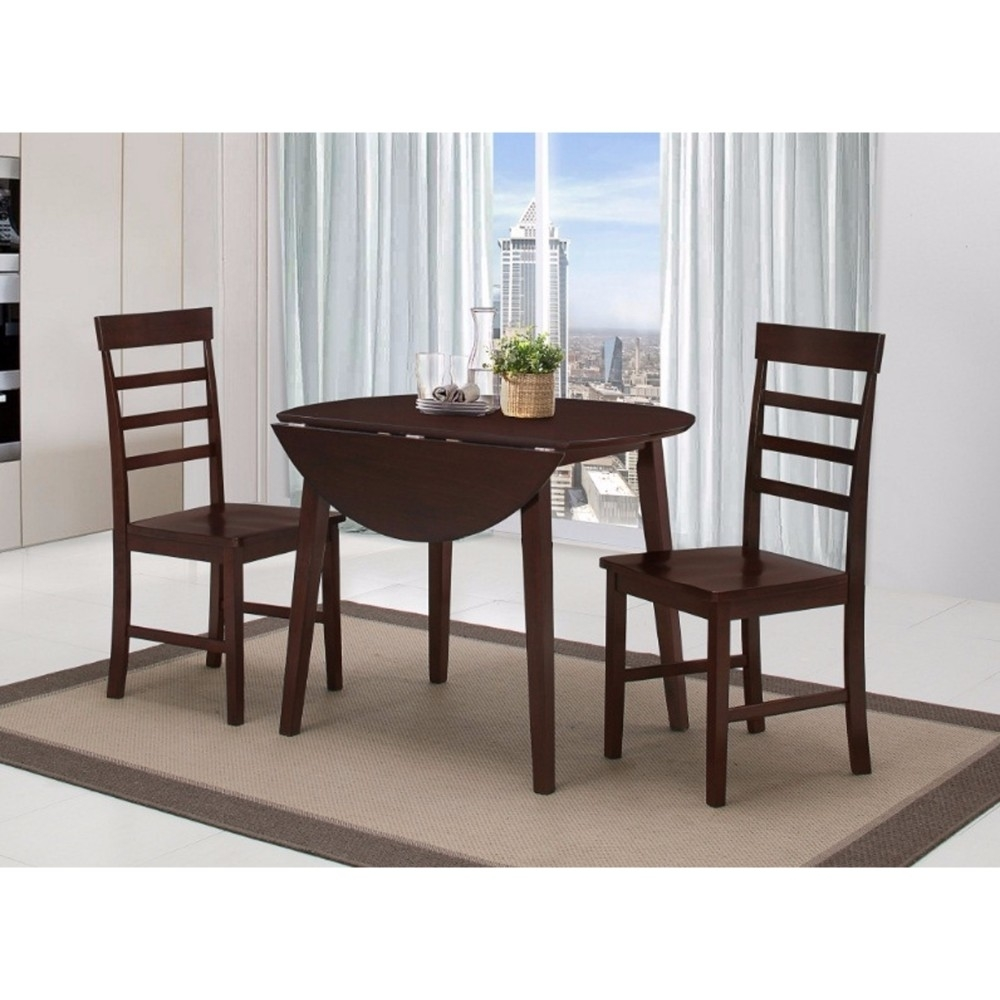 Brand New Dining Table with Two Chairs, leather Dining Room Chairs, Black  Leather Dining Chairs
