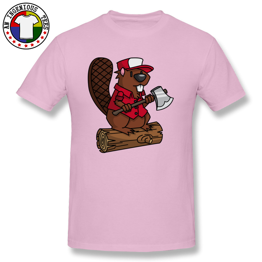 Beaver Chopper NEW YEAR DAY All Cotton Crewneck Tops T Shirt Short Sleeve Personalized Sweatshirts Brand New Hip hop Tshirts Beaver Chopper pink