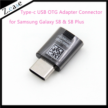 2pcs s8 Brand new Genuine OEM Type-C Micro USB OTG Adapter Connector for Samsung Galaxy S8 S8 Plus(China)