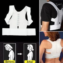 Magnetic Posture Corrector Corset Women Men Back Support Brace Straightening Orthopedic Black White Vest Corset Belt