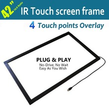 BIGGEST PROMOTION: Infrared Real 4 touches 42inch Screen Frame/ Panel for Video confrerence system