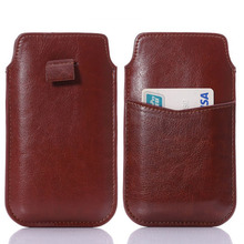 New style brown black Pull up Pouch Bag Case for Meizu MX2 4.5 universal Leather PU Phone Bags Cases Cell Phone Accessories