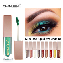 1PC Professional Brand Shimmer Eye Shadows Makeup Waterproof Pigment Warm Nude Pink Red Color Liquid Eyeshadow Makeup(China)