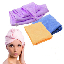 Magic Quick-Dry Hair Towel Hair-drying Ponytail Holder Cap Towel Lady N Microfiber Hair Towel touca de microfibra B072-1