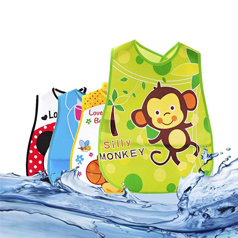 Baby Cartoon Bibs Waterproof Kids Cute Pattern Bandana Boys Girls Infants Burp Clothes Feeding Care Adjustable Lunch Bibs Newest<br><br>Aliexpress