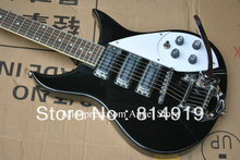 Black Rick 325 Model 3 Pickup Bigsby Tremolo Electric Guitar In Stock