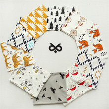 2017cotton scarf panda fox bear grid patterns spring boys girls O ring scarf baby neckwear collars kids neckerchief accessory(China)