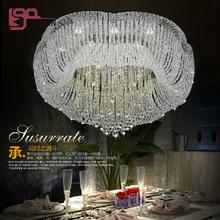 new design large contemporary chandelier crystal LED light chandelier AC110-240V lustres home lighting