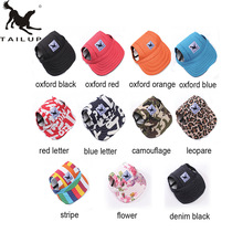 TAILUP 2017 Hot Sale Sun Hat For Dogs Cute Pet Casual Cotton Baseball Cap Chihuahua Yorkshire Pet Products Plus Size L/XL(China)