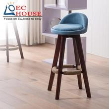wood barstool European chair rotary backrest stool bar stool. FREE SHIPPING
