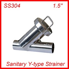 1.5'' Sanitary Stainless Steel SS304 Y type Filter Strainer f Beer/ dairy/ pharmaceutical/beverag /chemical industry(China)