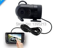 Free shipping HD 720P Smallest Car Black Box G-Sensor Video Recorder In Dash Car DVR For GPS DVD Player+Car monitor