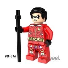 1PCS model building blocks action figures starwars superheroes Robin Mini Doll kits classic learning diy toys for children gift(China)