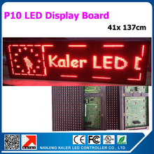 led advertising board red color moving text p10 outoor led display board 41x 137cm red led sign(China)