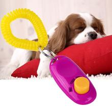 Universal Animal Pet Training Clicker Obedience Aid + Wrist Strap Light Weight Dog Tranining Toys Pet Accessories Cat Rose PJW(China)