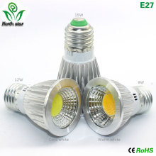 GU10 led bulb E27 led light E14 Lampada  MR16 COB light 9w 12w 15w Led Spotlight Warm Cold White MR16 12V led Lamp GU 5.3 220V