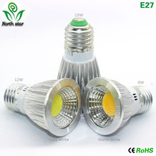 GU10 led bulb E27 led light E14 Lampada MR16 COB light 9w 12w 15w Led Spotlight Warm Cold White MR16 12V led Lamp GU 5.3 220V(China)