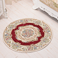 beibehang High-end European-style thick round carpet computer chair mats living room coffee table carpet swivel chair cushion(China)
