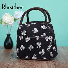 2016 New Arrival Beautiful High Quality Flower Portable Lunch Packet Women Fashion Lunch Bag HME11