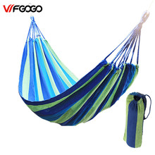 WFGOGO 190*100CM Hammock Portable Camping Garden Beach Travel Hammock Outdoor Ultralight Colorful Cotton Polyester Swing Bed(China)