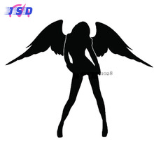 Car Styling Decorative Accessories Sexy Women Stickers for Renault Clio Rover Skoda Subaru Volvo S80 Volkswagen VW Rolls-Royce(China)